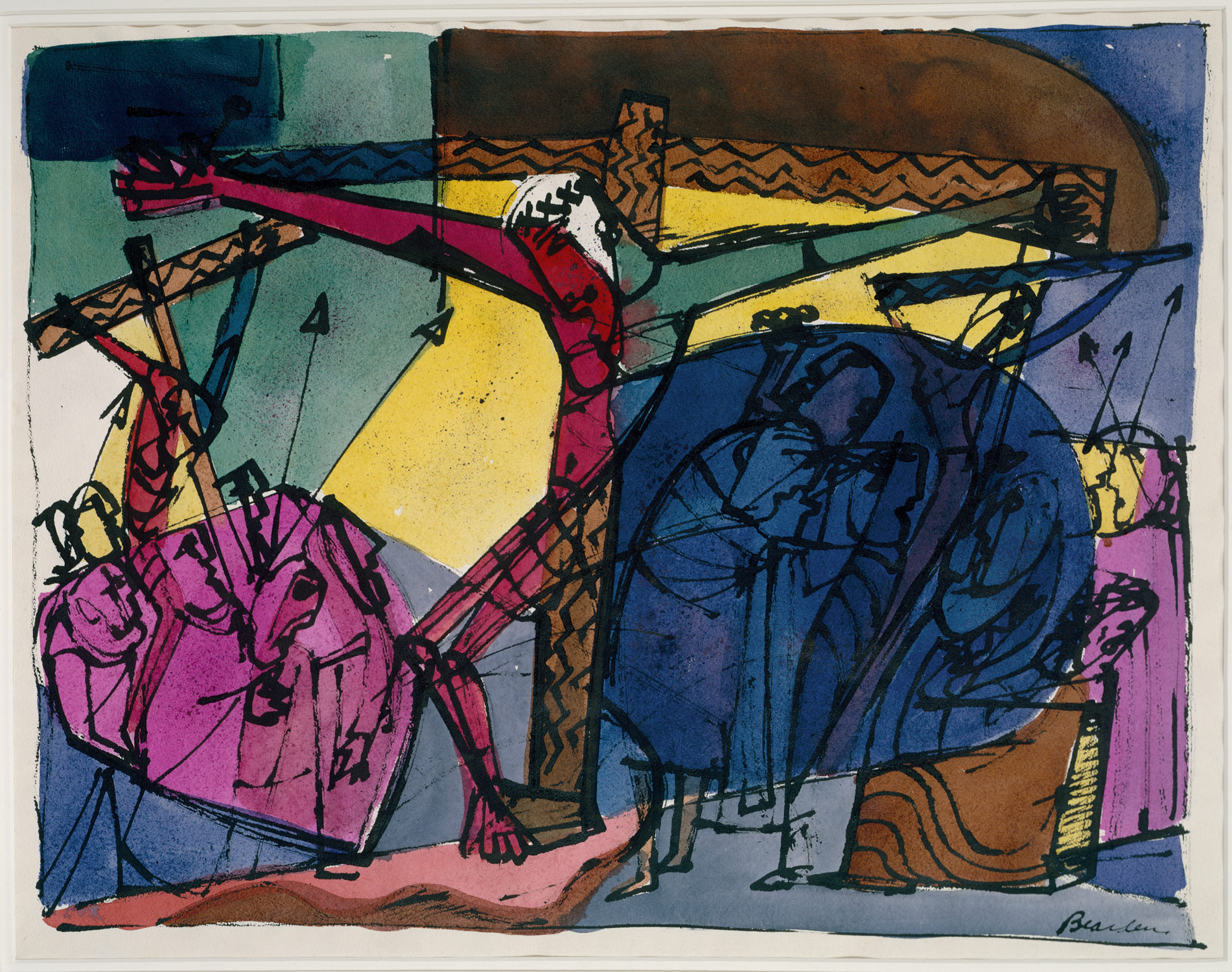 Romare Bearden - Golgotha (1945)